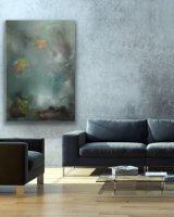 Misty Blue 61 x 91 cm Oil on Canvas Room
