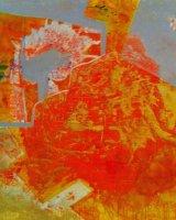 The Cut Oil on linen canvas 98 x 98 x 4 cm