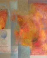 The Orange Oil on canvas 80 x 80 x 4 cm