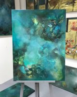 Under the Sea with Turquoise 76 x 101 cm Oil on Canvas