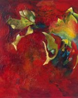 Venetian Masque Oil on canvas 67 x 67 x 4.5 cm