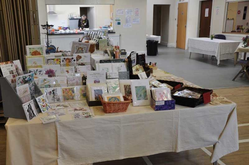 Cards for sale on the craft stall