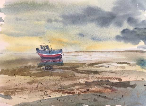 Fishing Boat, River Dee Estuary, Wirral