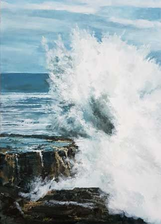 Atlantic Wave, Cornish coast in spring