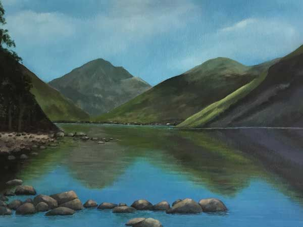 Wast Water - in acrylics