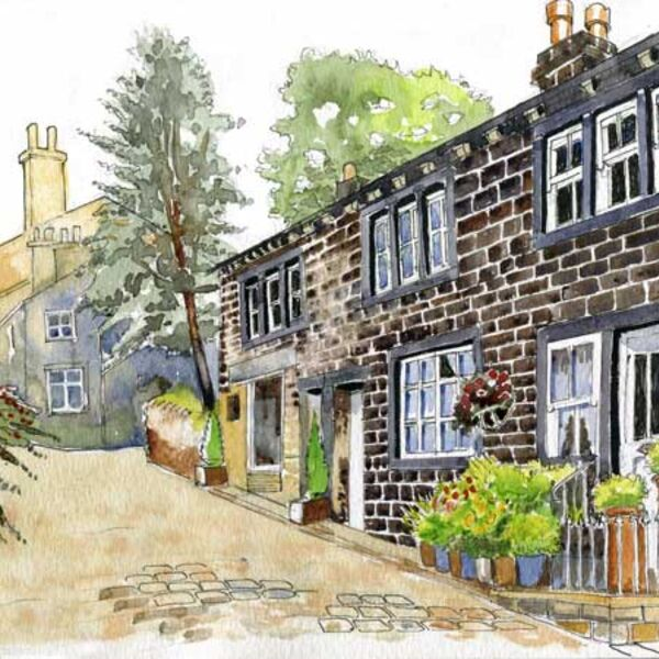 Cottages in Haworth Main Street