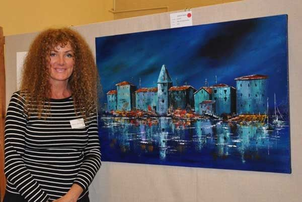 Tracey with her painting