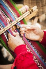 Weaving, Peru. Close-up.