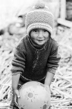Girl on Uros Islands, Lake Titicaca