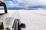 Trucking across the salt plains