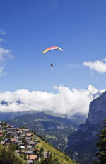 Paragliding over Murren