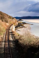 Train line at Aberdovey