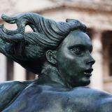 A statue in Trafalgar Square London