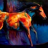 She Who Remembers the Ravens modern horse painting