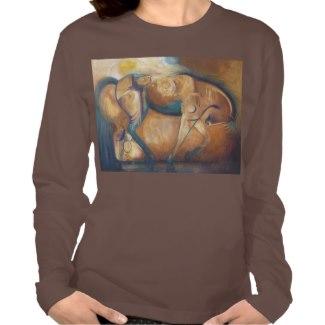 Belonging brown long sleeve t-shirt