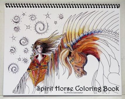 Spirit Horse Coloring Book