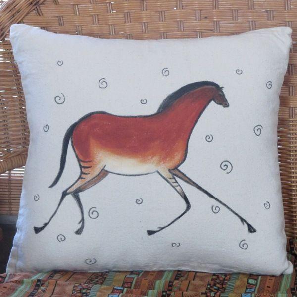 primitive pony pillow horse decor