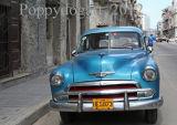 Old blue car in Havana