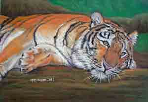 Day dreaming Tiger