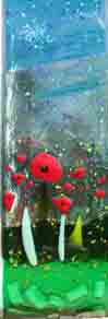glass field of poppies