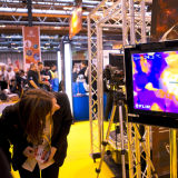 Delegate susses out a display at the Big Bang Fair, London