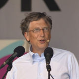Bill Gates speaking at the Big IF charity event in Hyde Park
