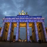 Brandenburg Gate during the Berlin Festival of Light