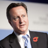 British Prime Minister, David Cameron, addressing a conference in London