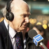 Business Secretary, Vince Cable, interviewed by the BBC