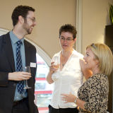 Capturing the atmosphere of a reception event, London