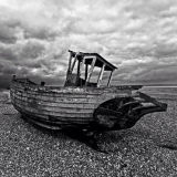Boat on Dungeness beach