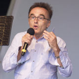 Film Director Danny Boyle speaking at The Big IF charity event in Hyde Park