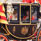 HM The Queen & Prince Philip in the Trooping of the Colour, London