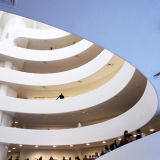 Interior of the Guggenheim Museum in New York