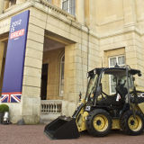 """JCB on display at the """"British Business Embassy"""", created during the 2012 Olympics at Lancaster House, London"""