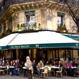 Les Deux Magots, famous café in Saint-Germain-des-Prés, Paris