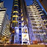 Lloyds of London lit up at dusk