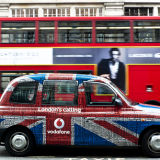 London cab and London bus