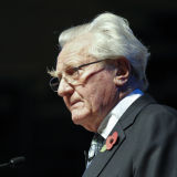 Lord Heseltine speaking at a conference in London