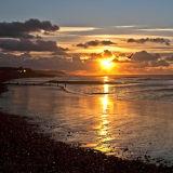 Sunrise on the Sussex coast
