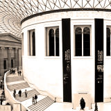 This view of the British Museum is almost sepia in reality