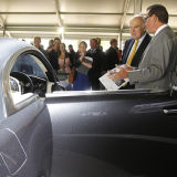 Business Secretary visits Rolls Royce stand at Goodwood Festival of Speed