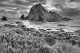 Sugar Loaf Rock in B/W