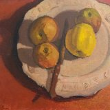 St Machar plate with apples