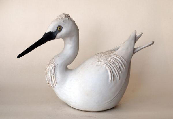 Seated Egret