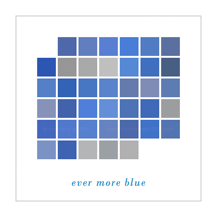 ever more blue