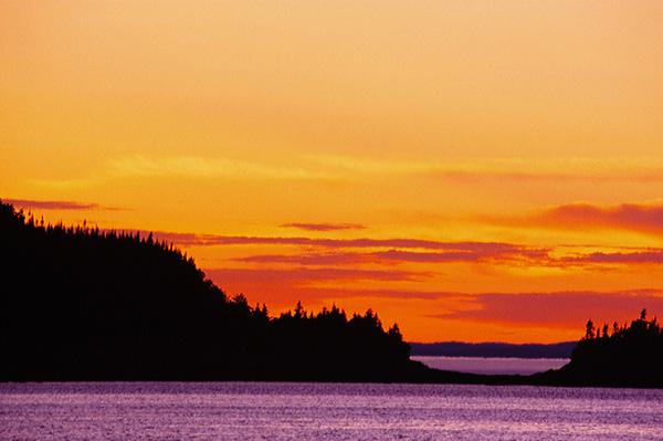 Coucher de soleil au Cap Caribou - Parc national du Bic, Québec