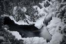 Chute Dorwin en hiver - Noir et blanc