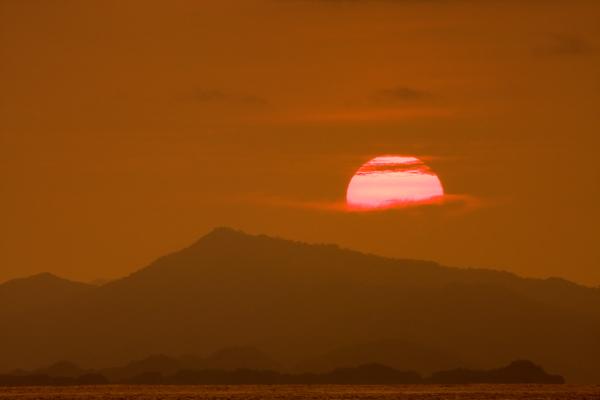 Coucher de soleil sur le Golfe Nicoya – Gros-plan