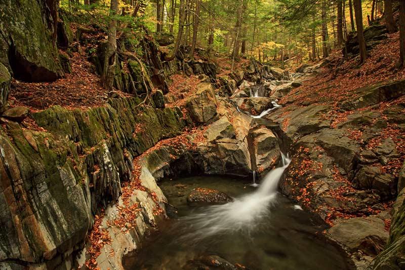 Bassin de Honey Hollow Falls à l'automne
